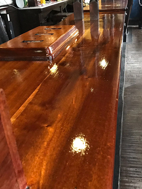 Bar top and base plate
