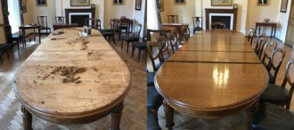 School Meeting Room Table French Polished